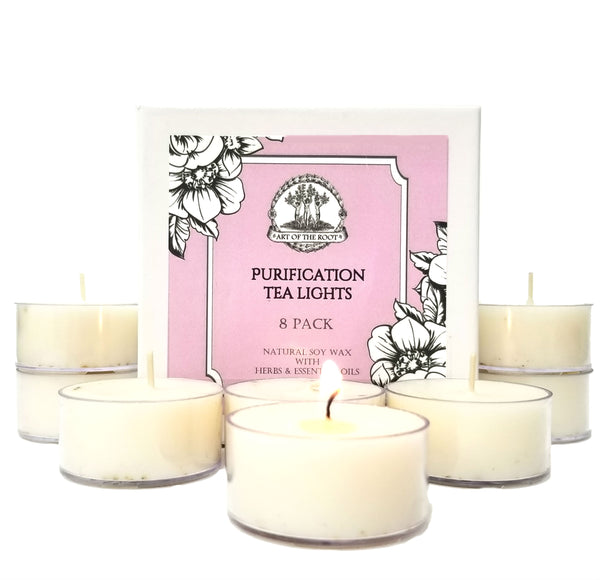 Purification Soy Tea Light Candles for Negativity, Purifying the Home & Dispelling Bad Energy
