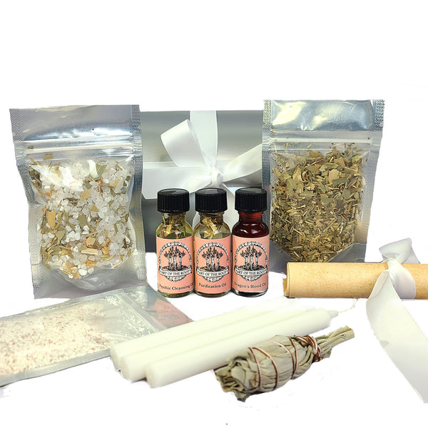 Purification 3 Spell Ritual Kit for Cleansing & Banishing Negativity