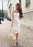 Free Shipping -- Sexy Lady Pencil Dress Camisole Lace Dress
