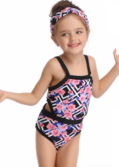 Free Shipping -- Geometric Figure Monokini Swimwear Mommy & Me
