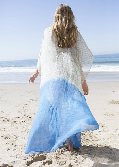Free Shipping -- Chiffon Printed Deep V-Neck Beach Dress Loose Maxi Swimsuits Cover Ups