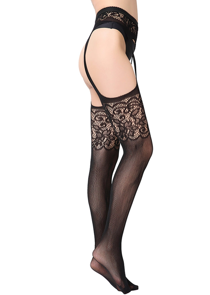 Free Shipping -- Lace Fishnet Thigh High Lingerie Stockings