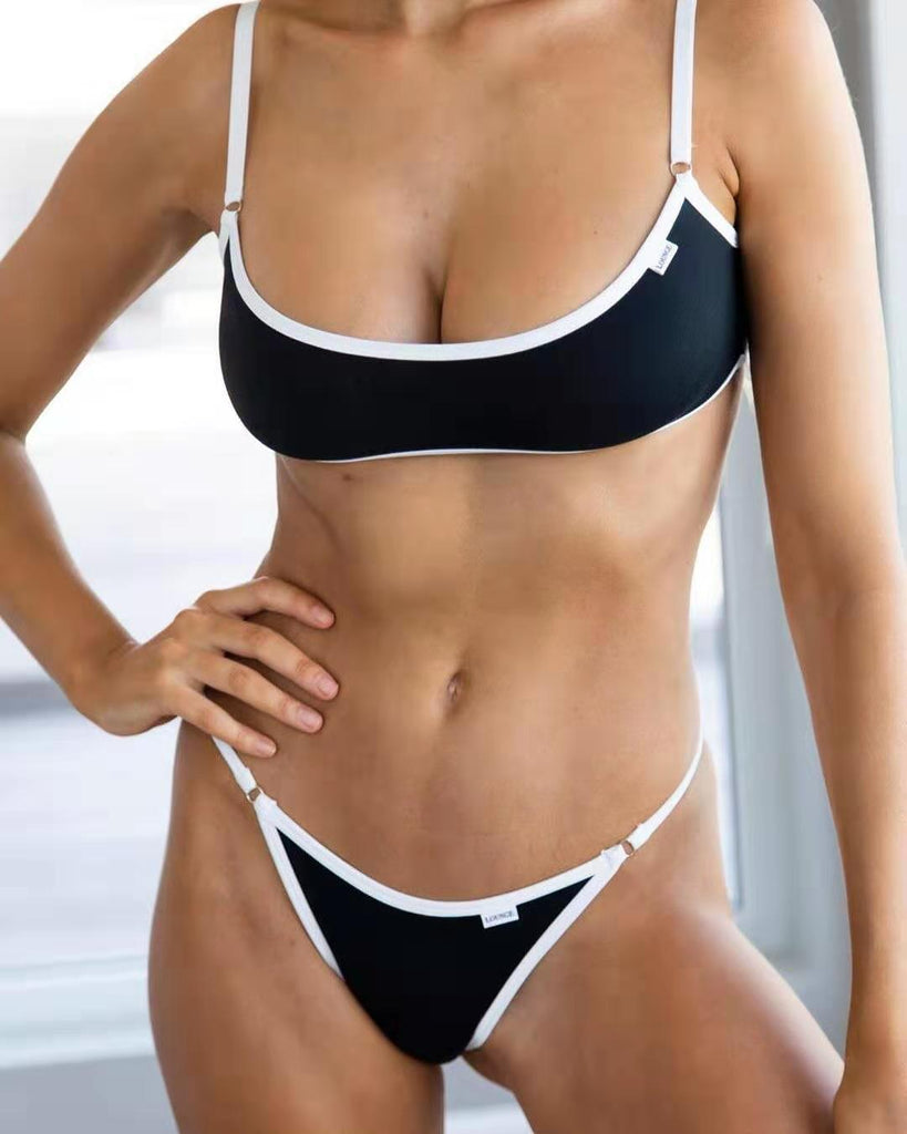 Free Shipping -- Cute Pure Color Micro Thong bikini