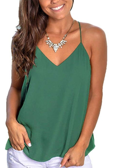 Free Shipping -- Solid Color Casual Camisole Halter Tank Tops