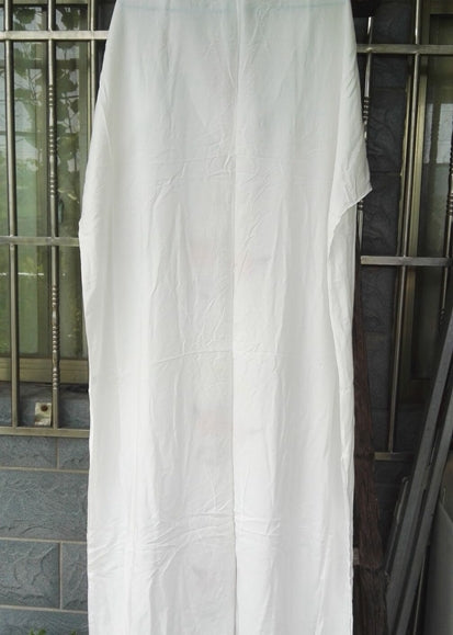 Free Shipping -- White Embroidered with Belt Short Sleeve Swimsuits Cover Ups