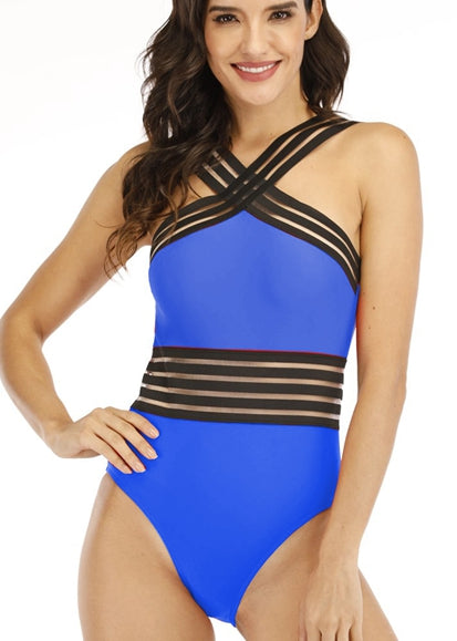 Free Shipping -- Sexy Cross Belt Gauze V-Neck Monokini