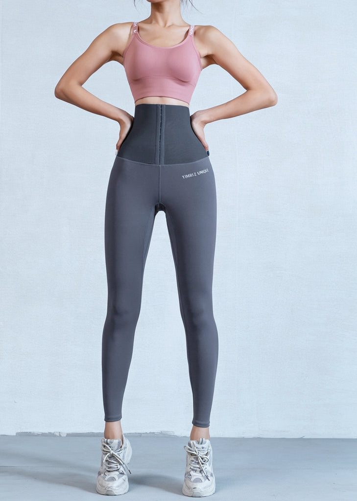 Free Shipping --Women Solid Seamless High Waisted Body Shaping Yoga Pants Butt Lifting Leggings