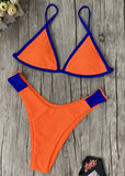 Free Shipping -- Sexy Blue/Orange Triangle Bikini Micro Bikini For Women
