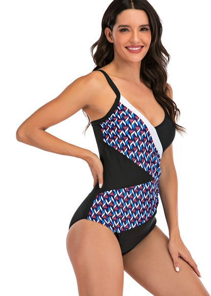 Free Shipping -- Color Block Skin-tight Monokini