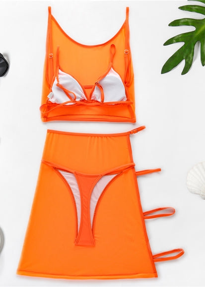 Free Shipping -- Solid Bandage Triangle Bikin Set & Cover Ups