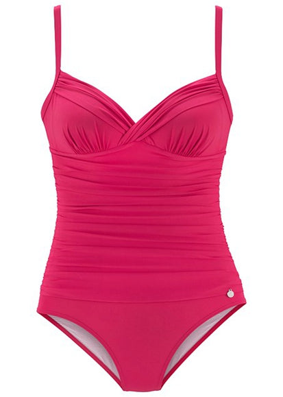 Free Shipping -- Solid Color Fold Pleated Wrap Monokini