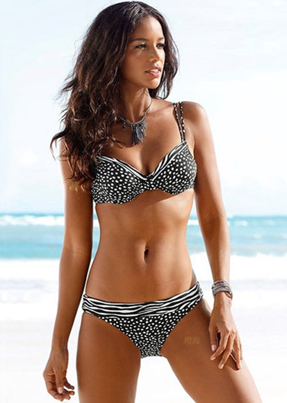 Free Shipping -- Sexy Push Up Wave Point Bikini For Women