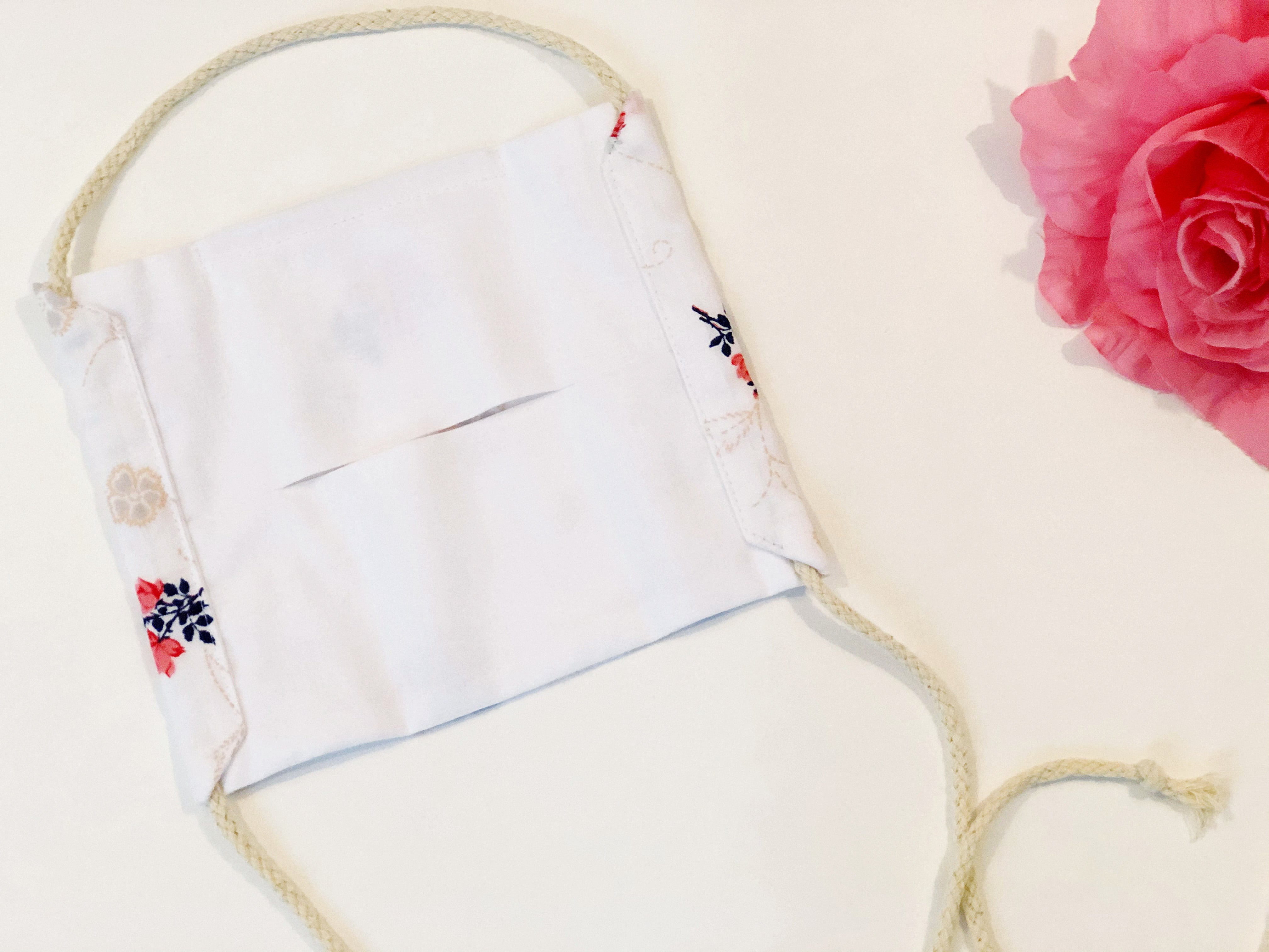 ROSES & STITCHES CINCH FACE MASK