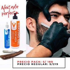 Pack de afeitado perfecto (1 Gel + 1 After shave + 1 Navajera) Vikingo Store