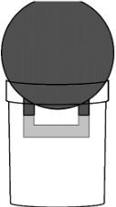 kettlebell mold placement in bucket