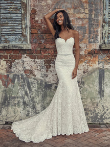 Rebecca Ingram Finola Strapless Fit-and-Flare Wedding Dress