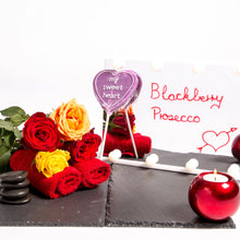 Load image into Gallery viewer, Blackberry Prosecco Heart Lollipop