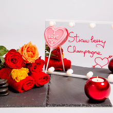Load image into Gallery viewer, Strawberry Champagne Heart Lollipop