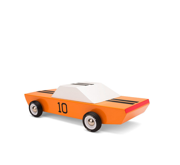 Automobile de course miniature orange