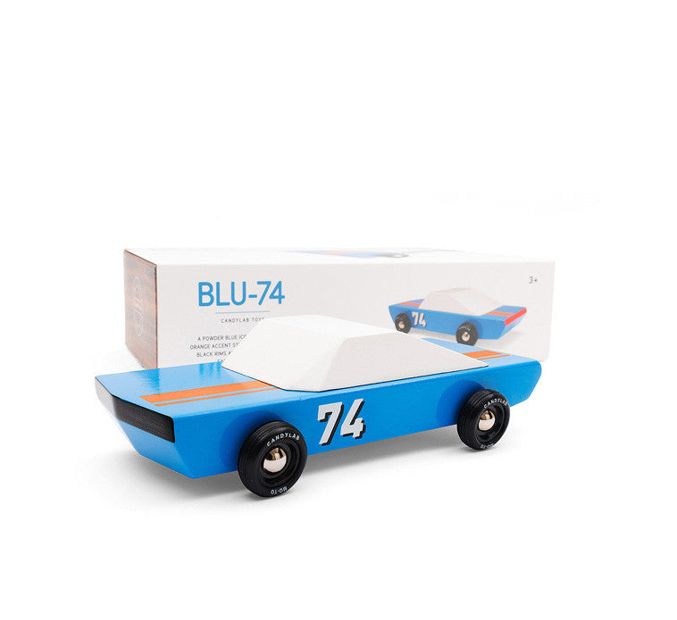 Automobile de course miniature bleue
