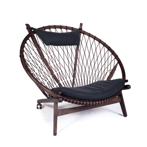 circle chair wegner fauteuil lounge
