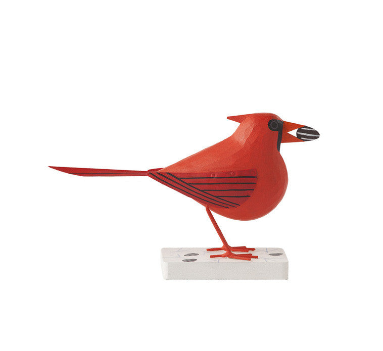 Charley Harper Cardinal Courtship, Male