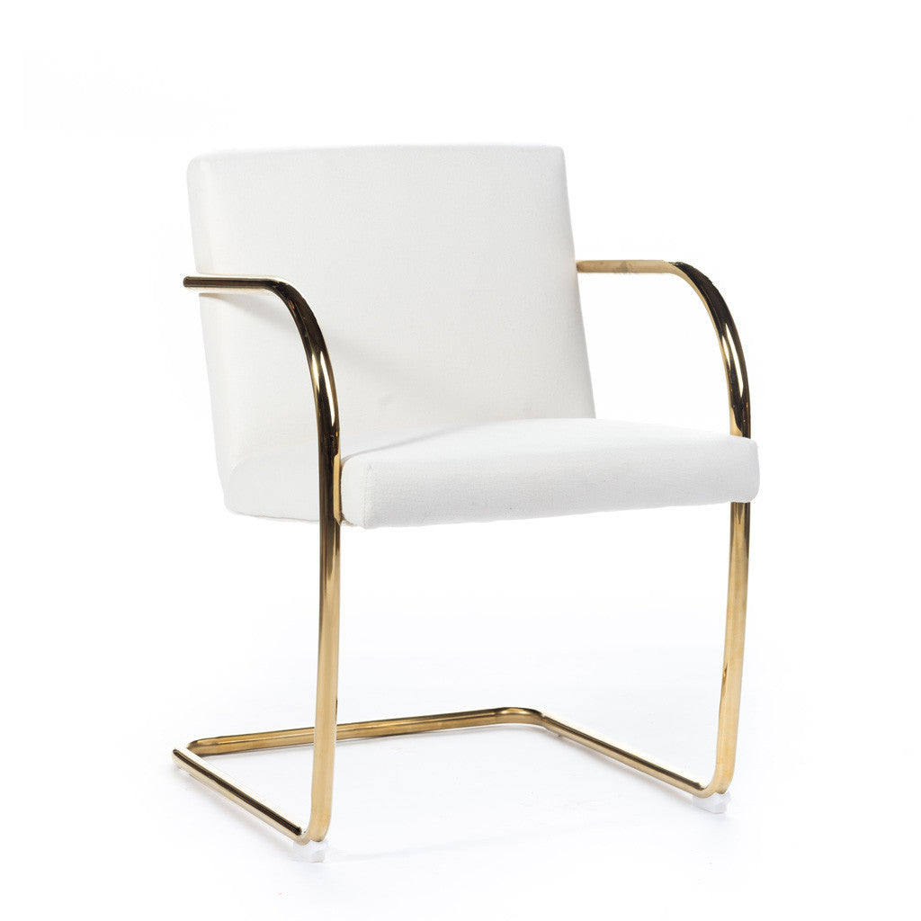 brno chair or et tissu gold and fabric chaise brno mies van der rohe chair