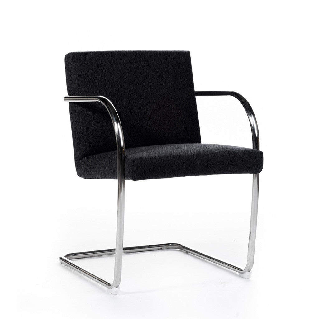 Parfait ... Brno Chair Or Et Tissu Gold And Fabric Chaise Brno Mies Van Der Rohe  Chair ...