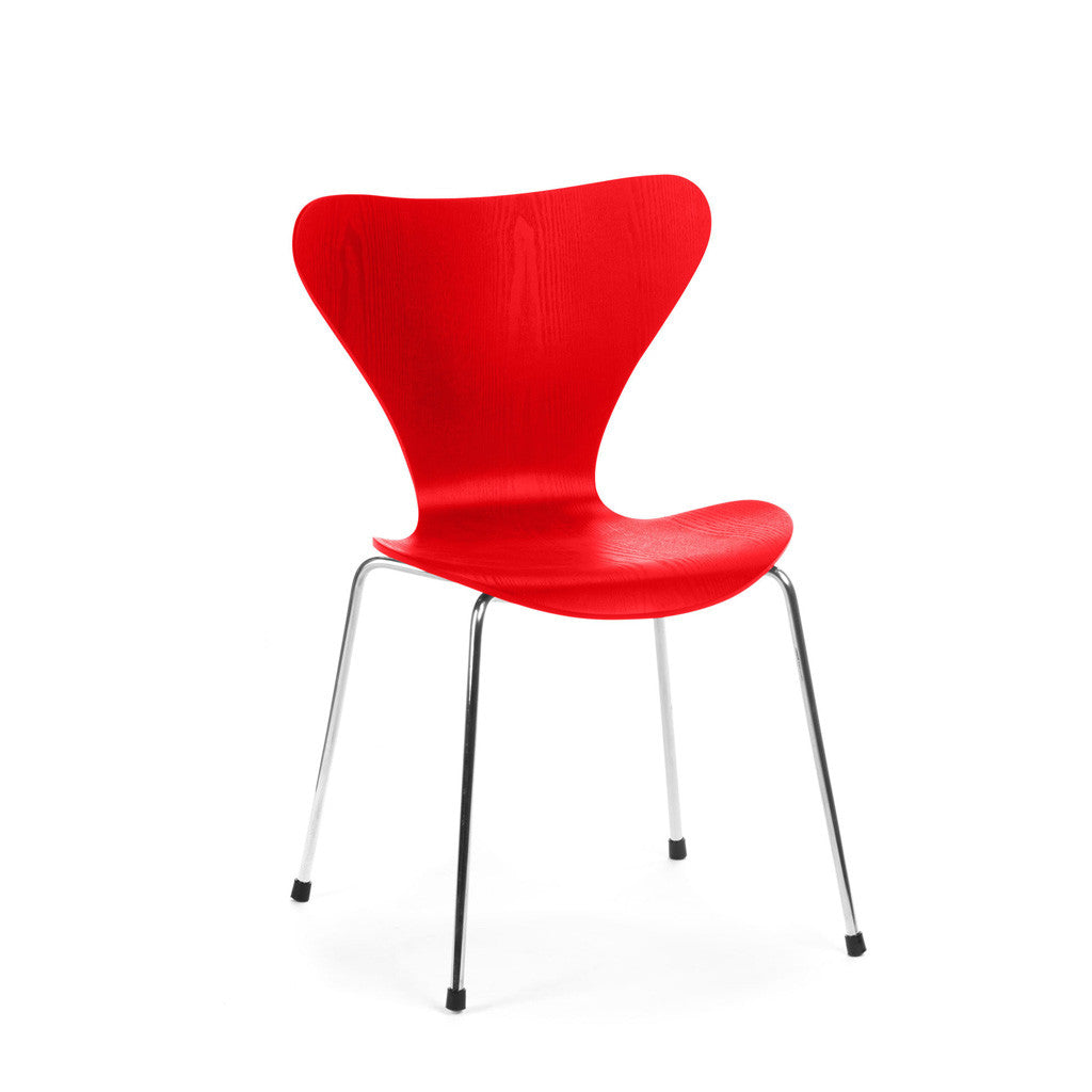 Serie chair arne jacobsen chaise with chaise de cuisine rouge for Liquidation chaise cuisine