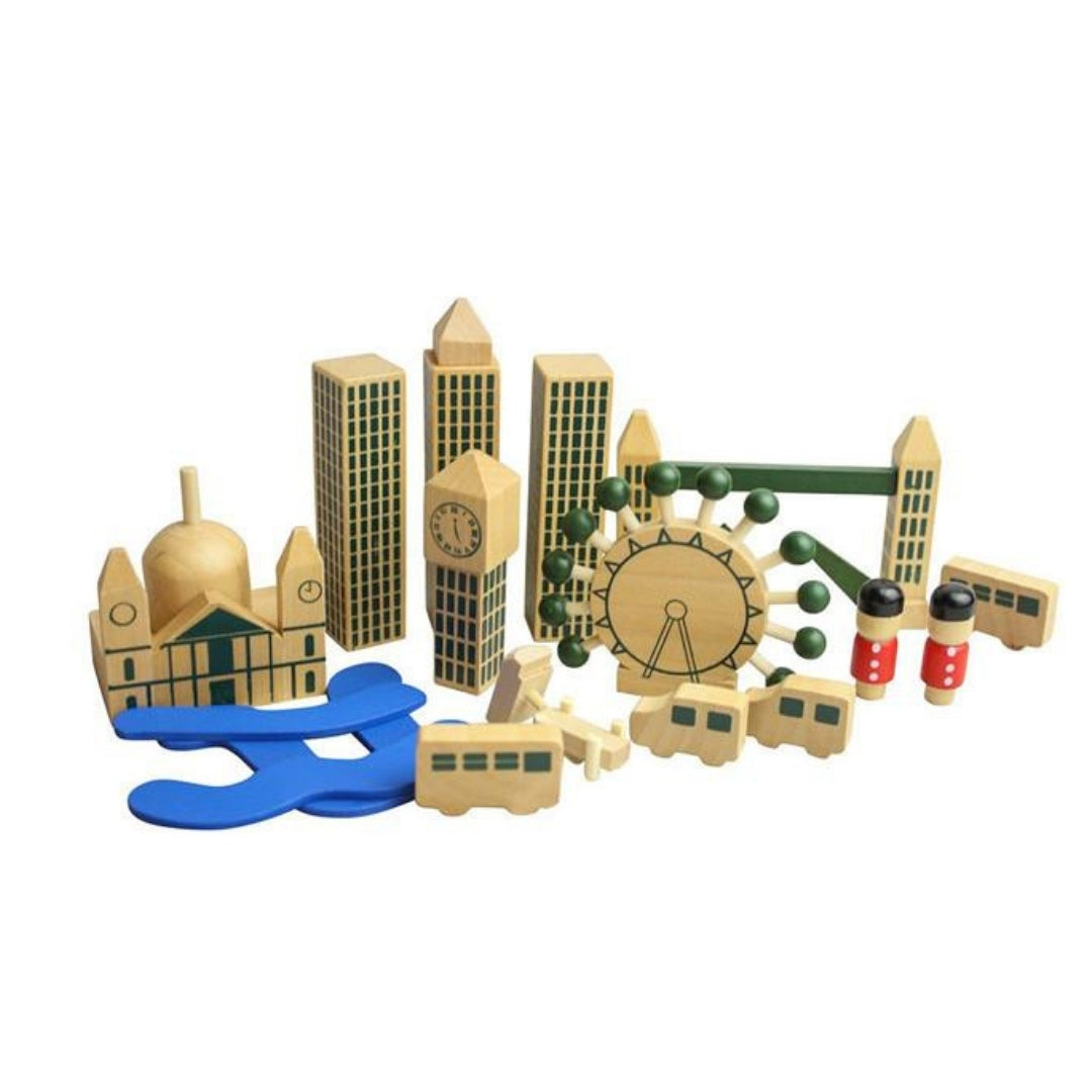 London In A Bag Wooden Playset