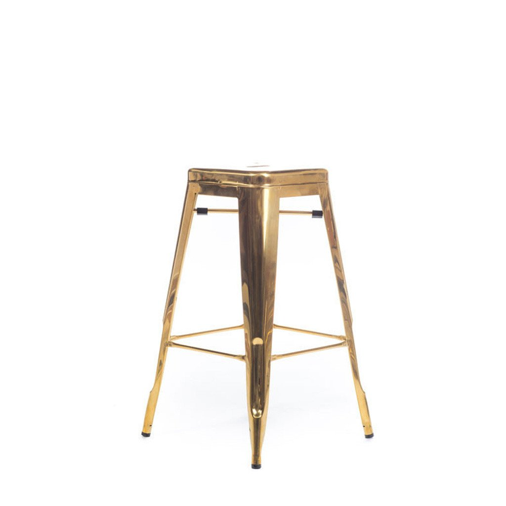 Polished Metal Tolix Stool