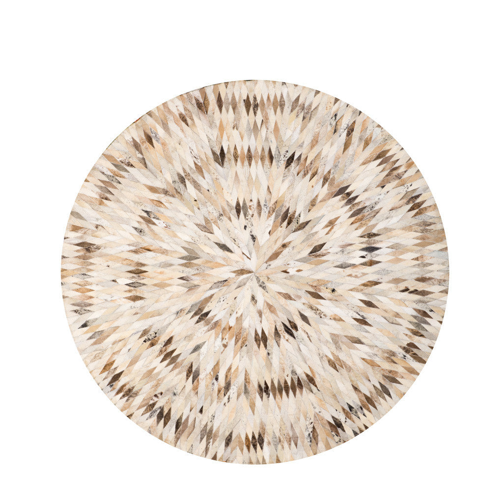 cow rug round