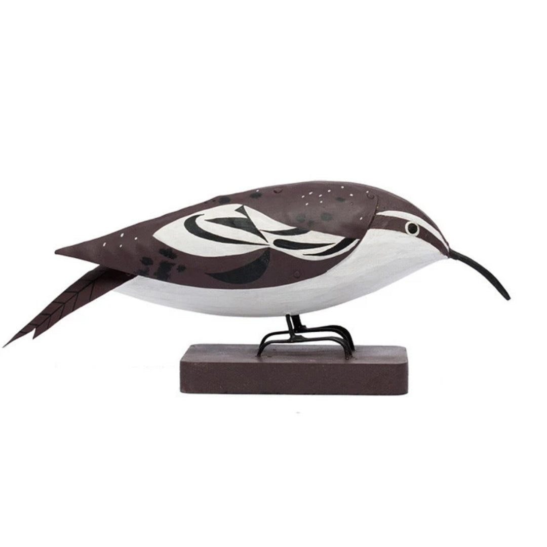 Charley Harper Brown Creeper, Sculpture en bois