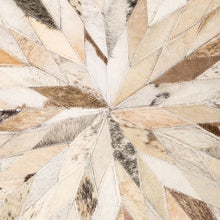 Load image into Gallery viewer, Round Diamond Cowhide Rug