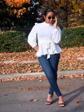 Peplum Belted Blouse