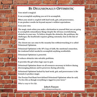 Be Delusionally Optimistic Wrestling Poster
