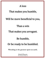 Be Humble or Be Ready To Be Humbled Wrestling Poster