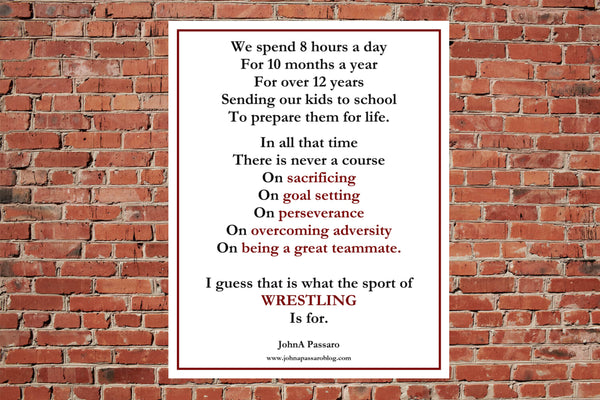 That Is What The Sport of Wrestling Is For Poster