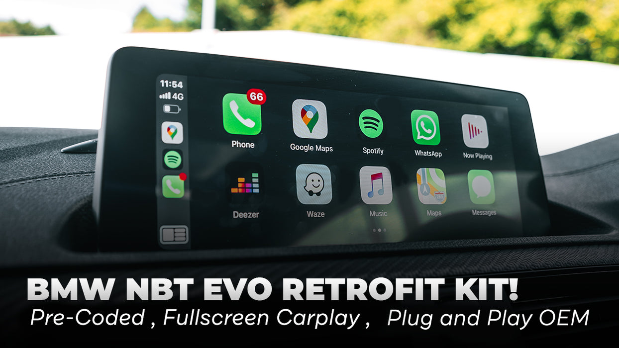 iDrive 6 OEM Plug and Play NBT EVO Retrofit Pre-Coded to your VIN