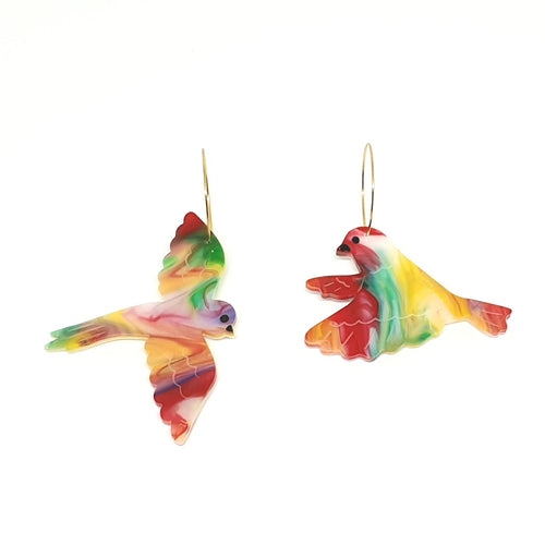 Birds of Paradise Acrylic Earrings