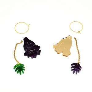 3-in-1 Jacaranda Acrylic Earrings