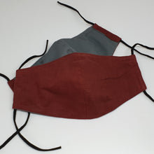 Load image into Gallery viewer, Triple Layered Reusable Mask (Kid Plain Colour- Linen)