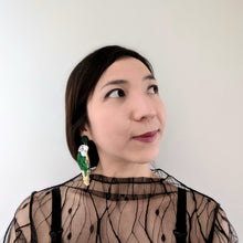 Load image into Gallery viewer, Budgie Statement Earrings