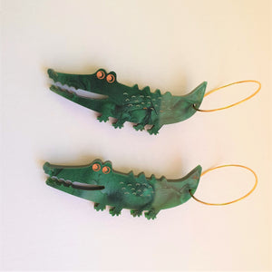 Crocodile Acrylic Earrings