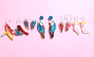 Budgie Statement Earrings