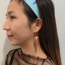 Load image into Gallery viewer, Budgie Mini Hoop Earrings