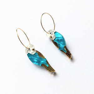 Budgie Mini Hoop Earrings
