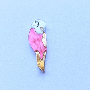 Build Your Own Budgie Mini Stud Earrings (One Single Earring)
