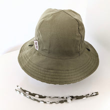 Load image into Gallery viewer, 'Sage Polka Dot' (Linen) Kid Floppy Hat