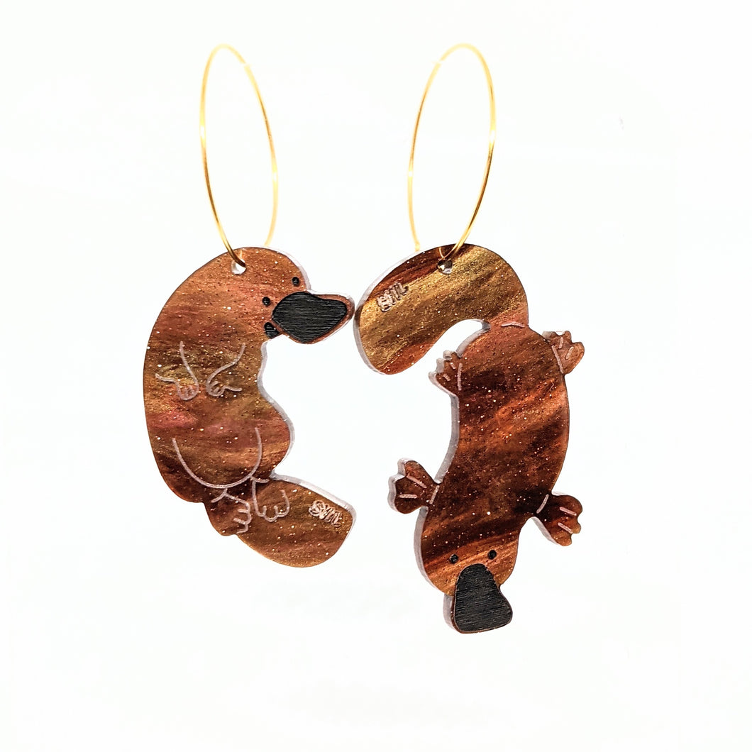 Platypus Acrylic Earrings